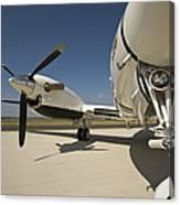 Close Up Of Turbo-prop Aircraft Canvas Print