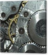 Close-up View Of Complex Clockwork Canvas Print