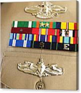 Close-up View Of Military Decorations Canvas Print
