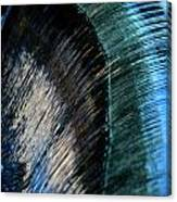 Close View Of A Sheet Of Water Pouring Canvas Print