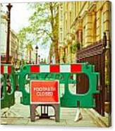 Closed Footpath Canvas Print
