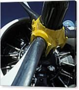 Closeup Of A Military Grumman Tracker Canvas Print