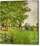 Clothes On The Line Canvas Print