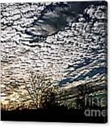 Cloud Blanket Sunset Canvas Print