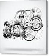 Cloud Made By Gears Wheels  Canvas Print