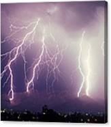Cloud To Ground Lightning Canvas Print