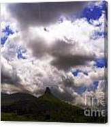 Clouded Hills At Nasik India Canvas Print