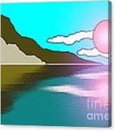 Clouded Sunrise Canvas Print