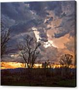 Clouded Sunset Canvas Print