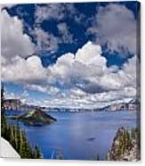 Clouds Above Crater Lake Canvas Print