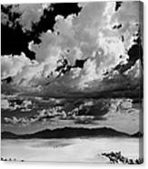 Clouds Above White Sands Canvas Print