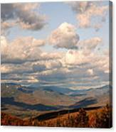 Clouds And Mountains Canvas Print
