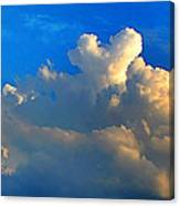 A Heart On Top Of The Clouds Canvas Print