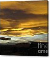 Clouds Illuminated At Sunset Canvas Print