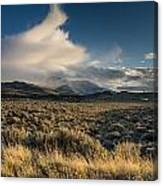 Clouds Over East Humboldts Canvas Print