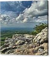 Clouds Over The Cliff Canvas Print
