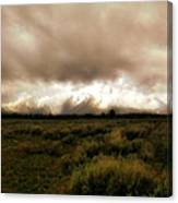 Clouds Over The Tetons Canvas Print