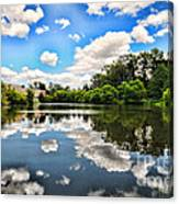 Clouds Reflection On Water Canvas Print