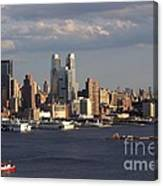 Clouds Rolling In On New York City Canvas Print