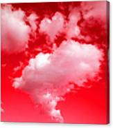 Clouds With Red Sky Canvas Print