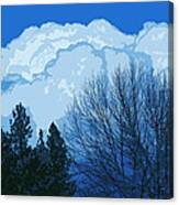 Cloudy Blue Dream Canvas Print