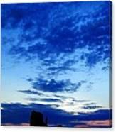 Cloudy Blue Monument Canvas Print