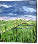 Cloudy Marsh Canvas Print