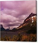Cloudy Morning At Glacier Canvas Print