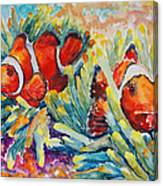 Clownfish In Their Paradise Canvas Print