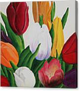 Cluster Of Tulips Canvas Print