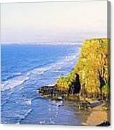 Co Derry, Ireland View Of Cliffs And Canvas Print
