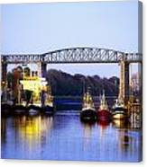 Co Louth, Drogheda And River Boyne Canvas Print