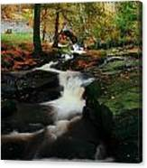 Co Wicklow, Ireland Waterfalll Near Canvas Print