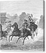 Coaching, 1860 Canvas Print