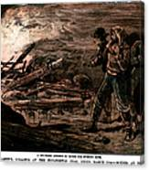 Coal Mine Explosion, 1884 Canvas Print