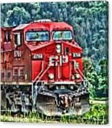 Coal Train Hdr Canvas Print