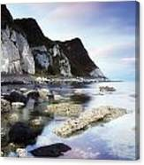 Coast Between Carnlough & Waterfoot, Co Canvas Print