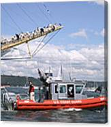 Coast Guard With Tall Ships Canvas Print