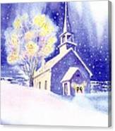 Coastal Church Christmas Canvas Print