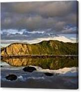 Coastal Cliffs In Evening Light Canvas Print