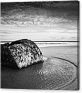 Coastal Scene Bw Canvas Print
