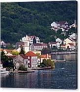 Coastal Town Of Montenegro Canvas Print