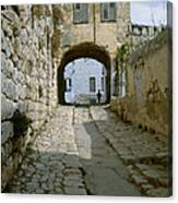 Cobbled Street In Safed Canvas Print