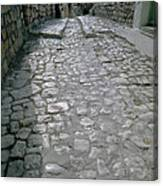 Cobbled Street Safed Canvas Print