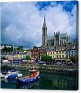 Cobh Cathedral & Harbour, Co Cork Canvas Print