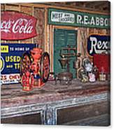 Coca Cola - Rexall - Ok Used Tires Signs And Other Antiques Canvas Print