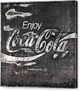 Coca Cola Pink Grunge Sign Canvas Print