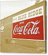 Coca-cola Sepia Canvas Print