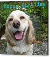 Cocker Spaniel Birthday Canvas Print