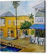 Coconut Tree In The Middle Canvas Print